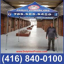 NEW Trade Show Event COMMERCIAL GRADE 10*10' Pop Up TENT + CUSTOM Printed Canopy