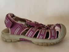 KHOMBU Sandy Sports Sandals Girls 12 Toddler Water Beach Shoes Pink Purple Gray