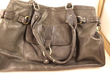 Sigrid Olsen Large Black Leather Tote Hand Bag Purse with pockets Pre-owned 3210a14e59