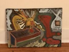 Vintage Folk Outsider Art Painting American Artist Signed MICHAEL SHEEDY 1986