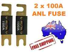 2 x 100AMP ANL Fuse for Dual Battery & Amplifier Wiring Kit Fuse Holders 100 A