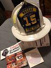 RARE Vintage #15 Cairns Leather Fire Helmet - Mint - Nascar Michael Waltrip