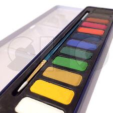 Set Acquerelli pittura - 12 x Colori con Pennello da SeaWhite-in Tin Box