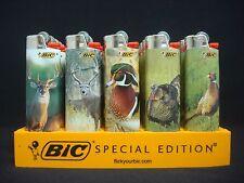 9 Bic Lighters Outdoors Animals Deer Duck Turkey Bird Fish Regular Disposable