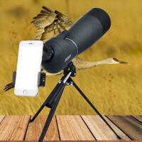 Waterproof 25-75X70 Zoom Monocular Spotting Scope BAK4 &Tripod & Phone Adapter