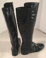 38 Women's Black Patent Leather Fabio RUSCONI boots
