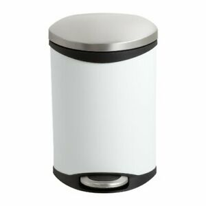 """Safco Hands Free Step-on Receptacle - 3 Gal Capacity - 17"""" Height X 12"""" Width X"""
