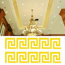 10X 3D Mirror Wall Sticker Home Decoration Geometric Greek Key Pattern Removable