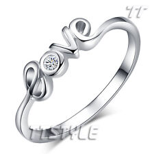 TT White Gold Plated Love Ring Size 5-8 (RF63)
