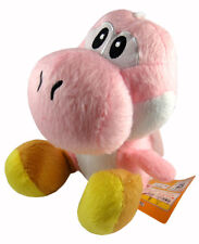 "Nintendo Super Mario Brothers Bros 7"" Pink Yoshi Stuffed Toy Soft Plush Doll"