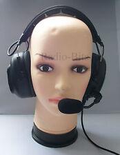 Heavy Duty Headset for Kenwood 2 Pin radios Inc TK3101 TK3201  TK3202 Protalk