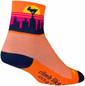 SockGuy Classic Balance Socks   3 inch   Orange   L/XL