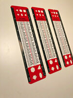 Vintage Post Engineering Advertising Ruler Decimal Equivalents Red LOT Plastic