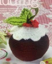 Crocheted Festive Christmas Pudding Basket CROCHET PATTERN