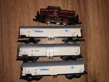 Minitrix 12064 N BR 261 626-6 DB AG Diesellok und 3 Kühlwagen Frigologo