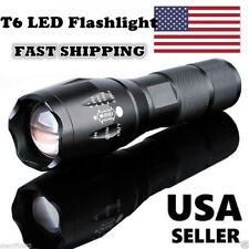 90000Lumen Tactical Police LED Flashlight Zoomable 18650/AAA T6 Torch Lamp Light