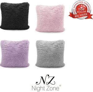 Teddy Cushion Cover Soft & Snug Soft Cosy Fluffy Fur Pack Of 4 Cushion Covers