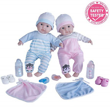 Kids Girls 38cm Berenguer Boutique Twins Deluxe Gift Play Set