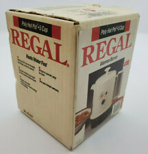 VTG Regal Poly Hot Pot 5 Cup Electric Warmer/Server K7427WH New Sealed