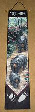 Black Bear Trail Tapestry Wall Hanging Bellpull