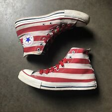 Men's Converse Chuck Taylor All Star USA Flag Stars And Striped Sneakers Sz 8
