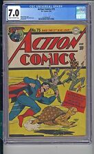 ACTION COMICS #75  CGC  7.0  F/VF  CREAM TO OFF WHITE PAGES  STRONG 7.0 COPY