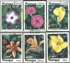Nicaragua 2586I-2591I (kompl.Ausg.) gestempelt 1985 Blumen