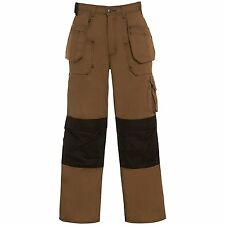 CLICK HEXHAM HARD WEARING CANVAS WORK TROUSERS MULTI POCKET KNEEPAD BX 5 - 32T