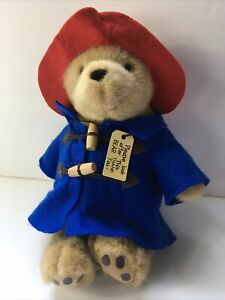 """Paddington Bear Plush 11"""" Red Hat Blue Coat Please Look After This Bear 2012 H3"""