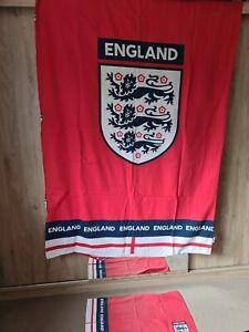 Boys Red Reversible Single Duvet Cover Bedding Set England Football