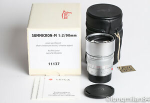 *MINT-* Leica Summicron-M 90mm f2 1:2/90 E55 Silver Chrome M10 M9 M9P MP M7 M8 2