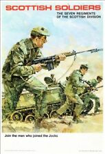 Vintage British Army Scottish Soldiers Recruitment Poster Print A3/A4