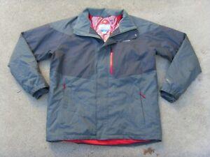 Columbia OMNI HEAT / TECH Waterproof Insulated Jacket Men's Sz L Gray Snowboard