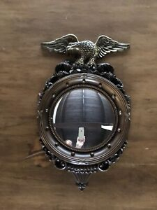 Vintage Dart, Ind. Federal Style Eagle Round Convex Porthole Type Mirror # 4410