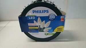 Philips Indoor Outdoor Warm White Faceted C6 LED Lights 200 String 66 Ft 6438F