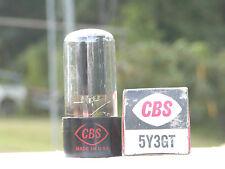 A VINTAGE CBS/RCA 5Y3GT BLACK PLATE NOS/NIB VAC TUBE