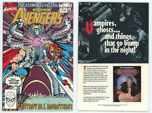 Avengers Annual #19 (VF+ 8.5) Terminus Factor Thor Captain America 1990 Marvel