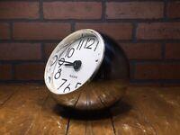 Rare Vintage 60's Bulova Mid Century Art Deco Modern Chrome Ball Clock FRANCE