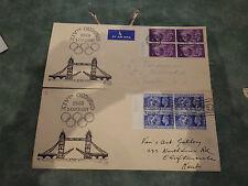 1948 london fdc bridge olympic games  2 in total
