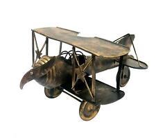 M 9in Retro Aeroplane Model, Home Office Decor Toy, World War