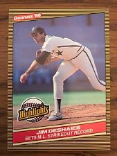 1986 Donruss Highlights Jim Deshaies Houston Astros 45