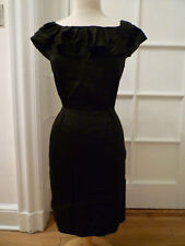 NWOT: BANANA REPUBLIC Black Silk Ruffle Dress, 12