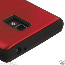 LG Optimus L9 P769 T-Mobile T Armor Hybrid Case Skin Cover Red Black
