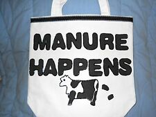 """Tote Bag, Purse, Carry-All, Beach Bag """"Manure Happens"""" and Cows New Handmade"""