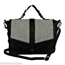 "Walter by Walter Baker ""Delmont"" Black Leather Messenger Bag $198"