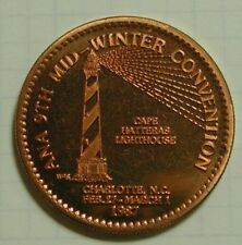 1987 ANA Mid-Winter Brass Medal Lighthouse