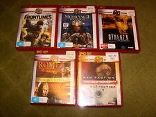13 PC Games Red Faction I & II, STALKER Chenobyl, Frontlines, Warhammer 40k