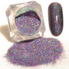 Manicure Mixed Starry Holographic Purple Laser Powder Nail Art Glitters Powder