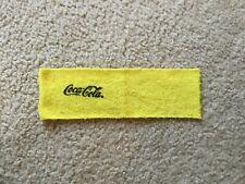 Barbie Coca-Cola Beach Towel Bath Towel Yellow with Black Writing Terry Cloth