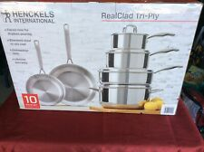 New listing J A Hanckle 10 Pc Real Clad Tri Ply